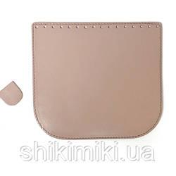 Клапан для сумки из натуральной кожи (20*18), цвет лиловый