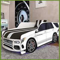 Кровать машина Премиум Mercedes-Benz белый с матрасом