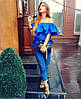 Блуза с открытыми плечами и рюшей коттон, фото 3