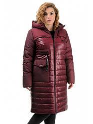 Стильное женское зимнее пальто полуприталенного силуэта Разные цвета