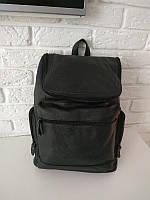 Вместительный кожаный рюкзак для ноутбука, городской