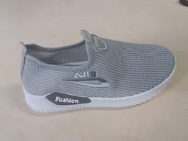 Кросівки для дівчаток сітка Eils Fashion сірі 36-21 см маломірки
