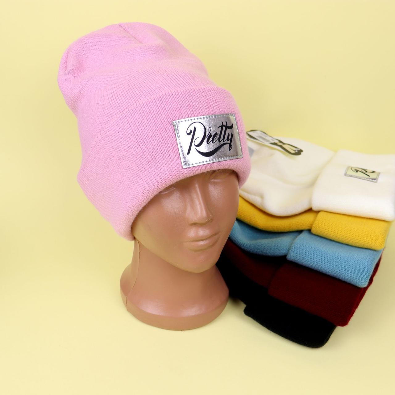 Зимова шапочка для дівчинки Pretty розмір 52-54