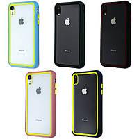 Clear Case Contrast Color Bumper iPhone XR