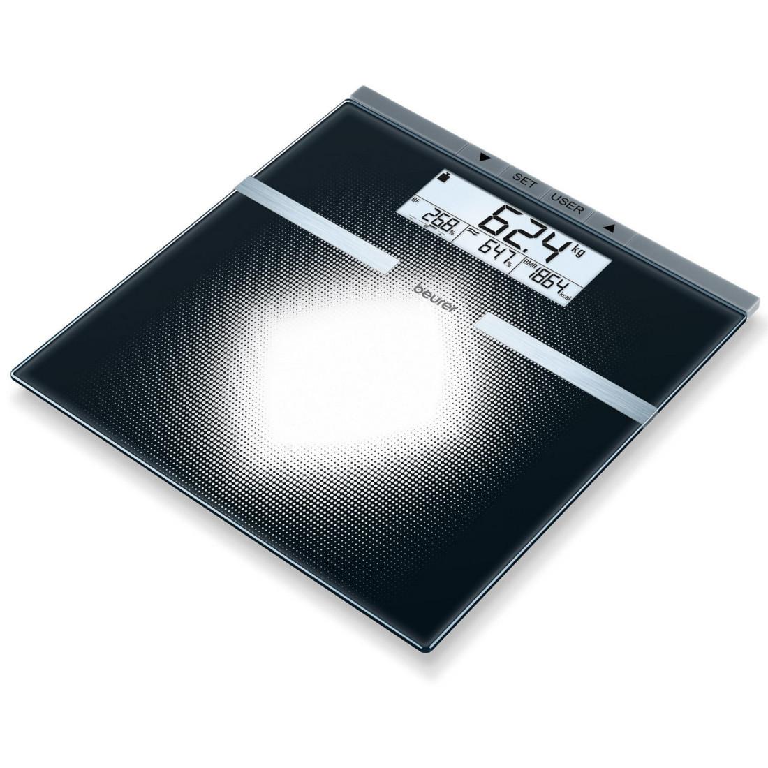 Beurer BG 21 - стеклянные диагностические весы для ванной комнаты - 5-летняя гарантия
