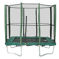 Прямоугольный батут МВМ 215х150 см. с защитной сеткой