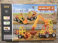 Детский конструктор Конструктор на магнитах развивающий магнитный конструктор Magnistar 87 деталей