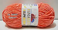 Нитки пряжа для вязания велюровая плюшевая DOLPHIN BABY Долфин Беби № 80332 - коралл