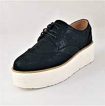Женские Туфли Черные Кроссовки Слипоны Мокасины (размеры: 37,38,39,40,41), фото 3