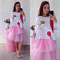 Одинаковые костюмы с фатиновой юбкой мама и дочка, фото 3