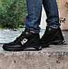 Ботинки Зимние New Balance Кроссовки Мужские на Меху Черные (размеры: 40,41,42,43,45) Видео Обзор, фото 2