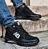 Ботинки Зимние New Balance Кроссовки Мужские на Меху Черные (размеры: 40,41,42,43,45) Видео Обзор, фото 4