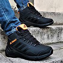 Зимние Кроссовки ADIDAS TERREX с МЕХОМ Черные Мужские Ботинки Адидас (размеры: 42,43,45,46)ВидеоОбзор, фото 2