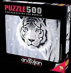 Пазлы Белый тигр на 500 элементов