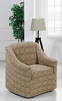 Чехол для кресла универсального размера Кофейный вензель, фото 1