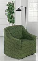 Чехол для кресла универсального размера Зеленый вензель, фото 1