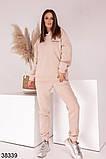 Женский теплый спортивный костюм с капюшоном р. 42-44, 46-48, фото 2
