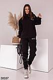 Женский теплый спортивный костюм с капюшоном р. 42-44, 46-48, фото 4