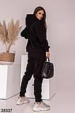 Женский теплый спортивный костюм с капюшоном р. 42-44, 46-48, фото 5