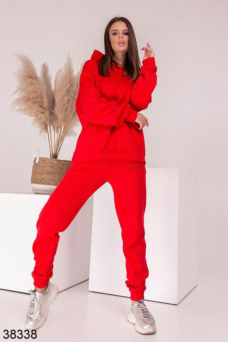 Женский теплый спортивный костюм с капюшоном р. 42-44, 46-48