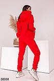 Женский теплый спортивный костюм с капюшоном р. 42-44, 46-48, фото 6