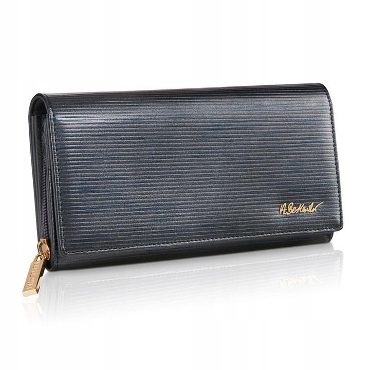 Жіночий шкіряний гаманець Betlewski з RFID 19,2 х 10 х 3,5 (BPD-PA-106) - темно-сірий