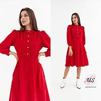 Женское вельветовое платье миди. цвета!, фото 1
