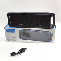 Портативная беспроводная bluetooth колонка блютуз бумбокс для телефона музыки с флешкой FM черная SC