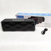 Портативная беспроводная bluetooth колонка блютуз бумбокс для телефона музыки с флешкой FM черная с серая SC