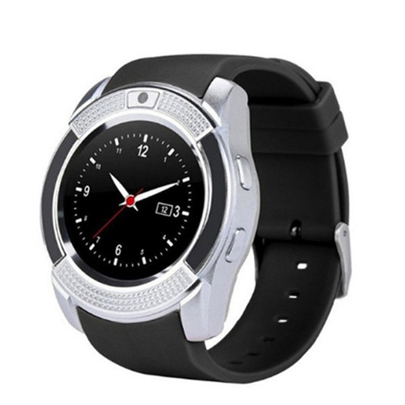 Смарт часы Smart Watch V8, Sim card + камера, silver