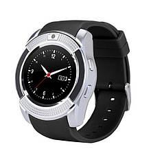 Смарт часы Smart Watch V8, Sim card + камера, silver