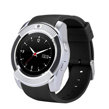 Смарт часы Smart Watch V8, Sim card + камера, silver, фото 2