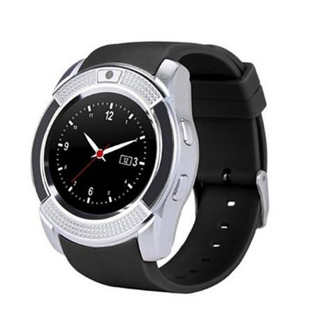 Smart часы V8 + камера, silver, фото 2