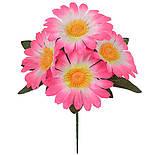 Искусственные цветы букет ромашка бордюрная атлас, 20см (60 шт в уп), фото 2