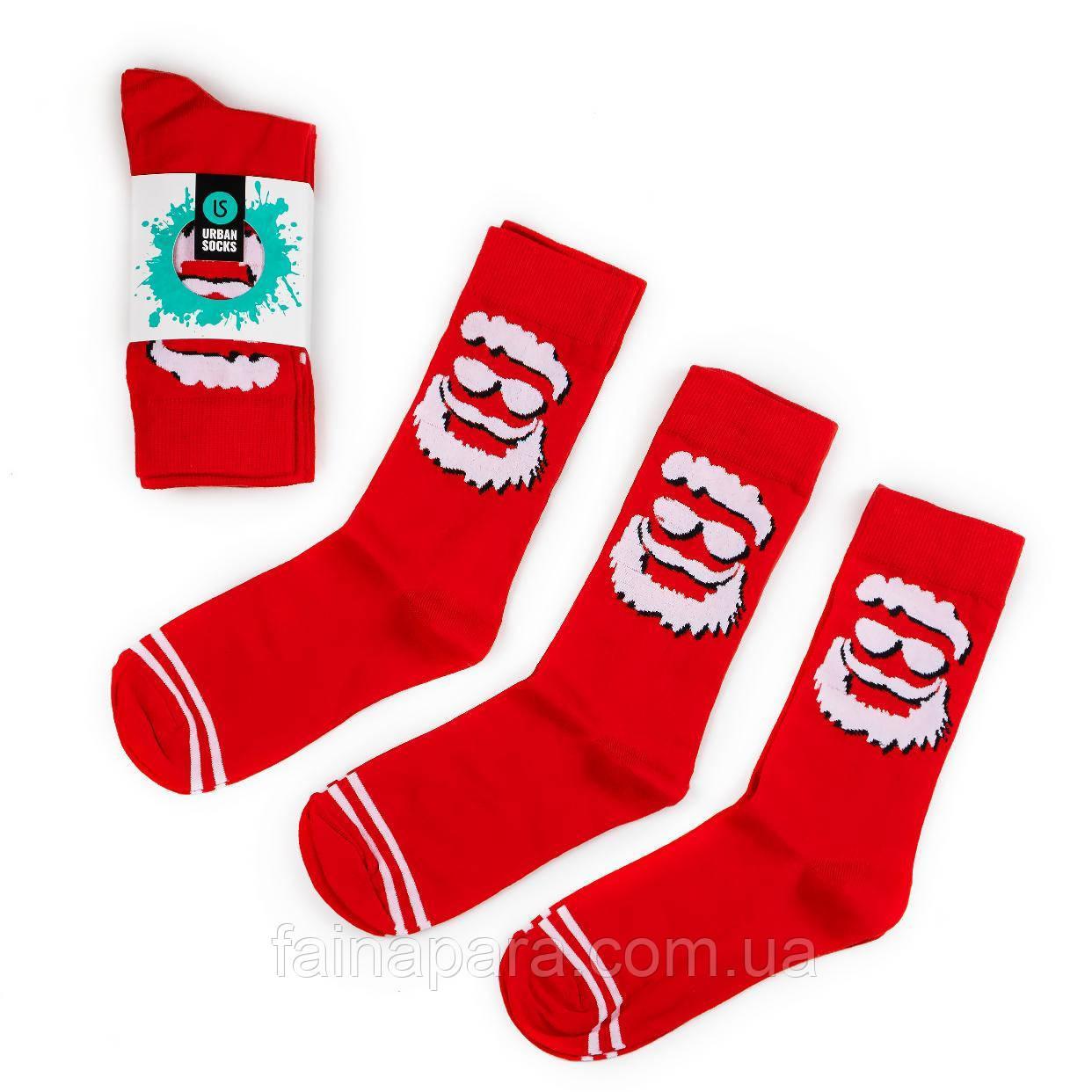 Яркие новогодние мужские носки на подарок комплект 3 пары