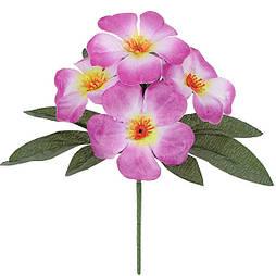 Искусственные цветы букет бордюрные фиалки крупные, 19см  (60 шт. в уп)