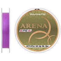 Шнур Favorite Arena PE 4x 150m (purple) #0.175/0.071mm 3.5lb/1.4kg