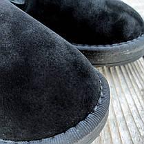 Сліпони чорні зимові з хутром замша еко демі демизезон укорочені уггі чоловічі батал, фото 3