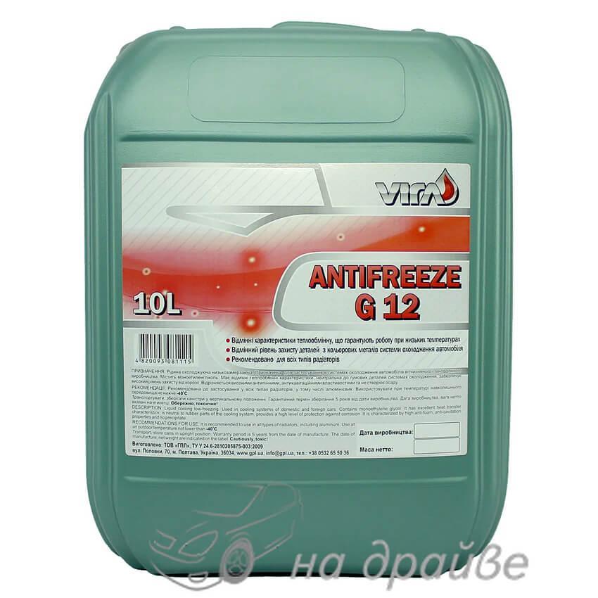 Антифриз -40°C красный 10 л G12 Vira