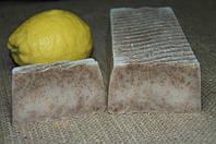 """Мыло развесное ручной работы """"Пшеничные отруби и лимон"""""""