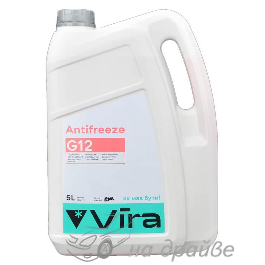 Антифриз -40°C красный 5 л G12 Vira