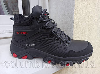 Кожаные зимние спорт.ботинки Columbia.