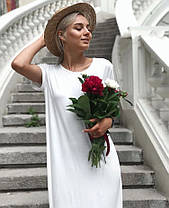 Платье свободное летнее в пол с карманом вискоза, фото 3