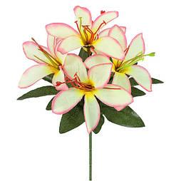 Искусственные цветы букет лилии бордюр усатые, 22см(60 шт в уп)