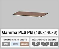 Полиці скло настінні навісні прямокутні Commus PL6 PB (180х440х6мм), фото 1