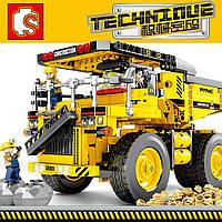 Детский конструктор Конструктор для мальчика Большой конструктор TECHNIQVE Большой грузовик 807 деталей