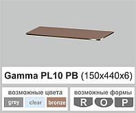 Полочка стекло настенная навесная прямоугольная Commus PL10 PB (150х440х6мм), фото 1