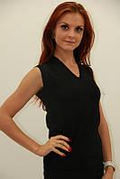 Модный женский жилет черного цвета