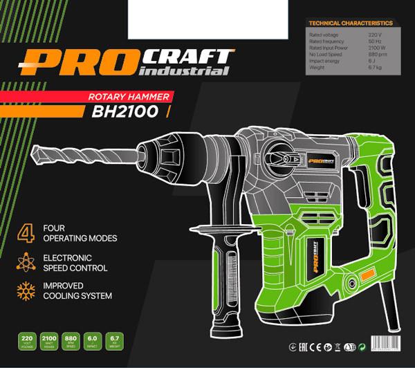 Перфоратор ProCraft Industrial BH-2100 NEW. Перфоратор ПроКрафт