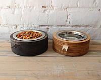 КІТ-ПЕС by smartwood Миска на подставке | Миска-кормушка металлическая для собак щенков  XS - 1 миска, фото 1